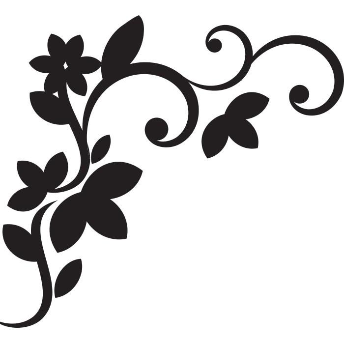 Adesivo de Parede Flor Provençal