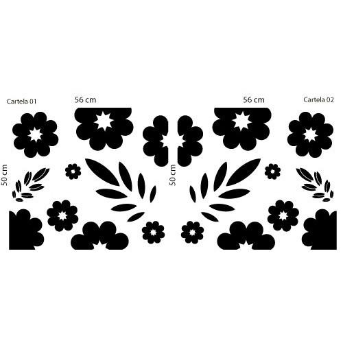 Adesivo Floral Armário