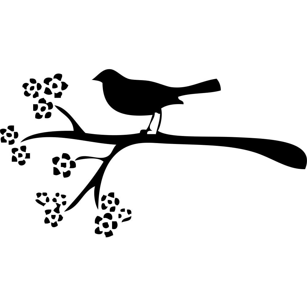 Adesivo Floral Bird