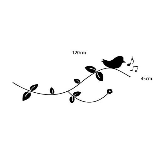 Adesivo Floral Bird II