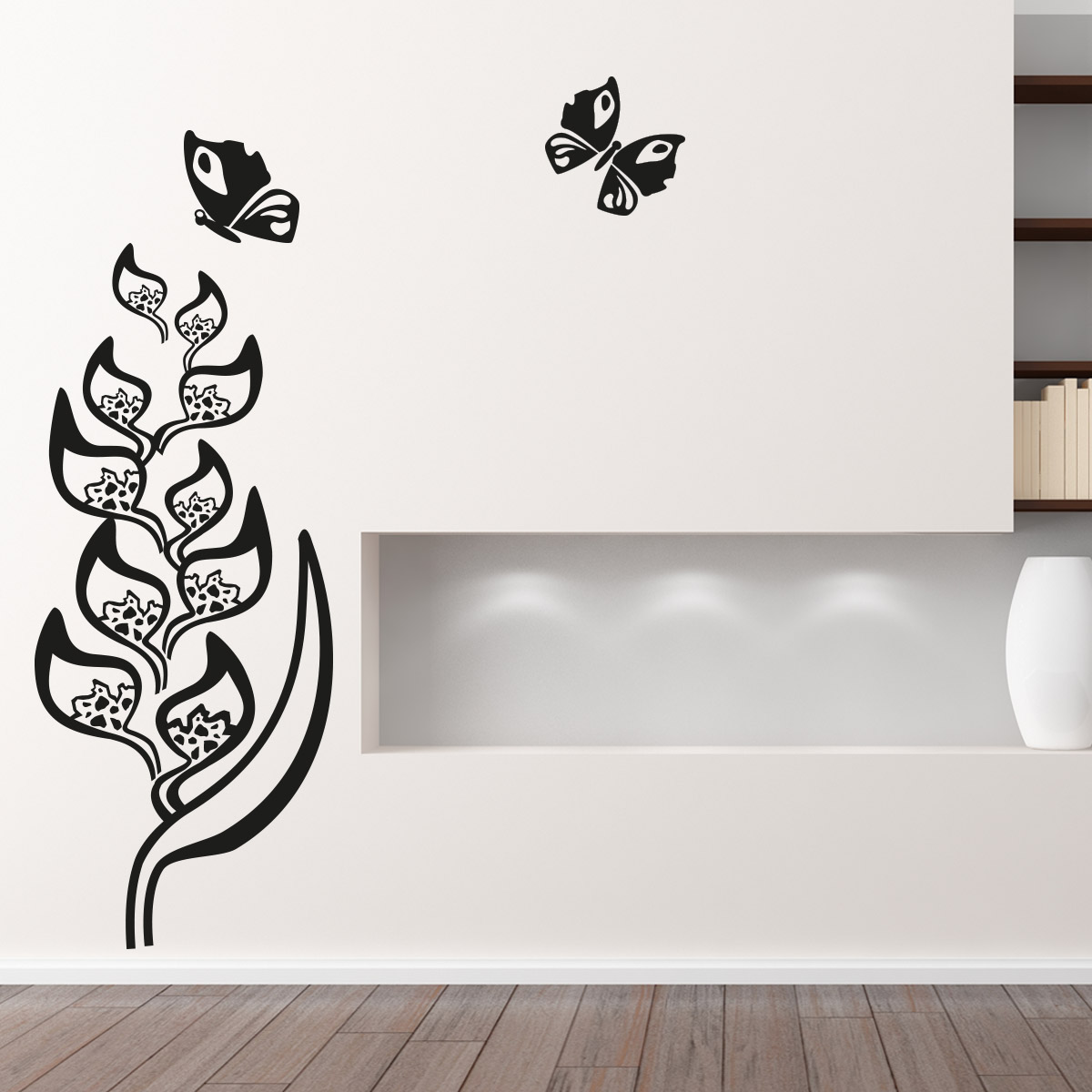 Adesivo Floral Borboletas