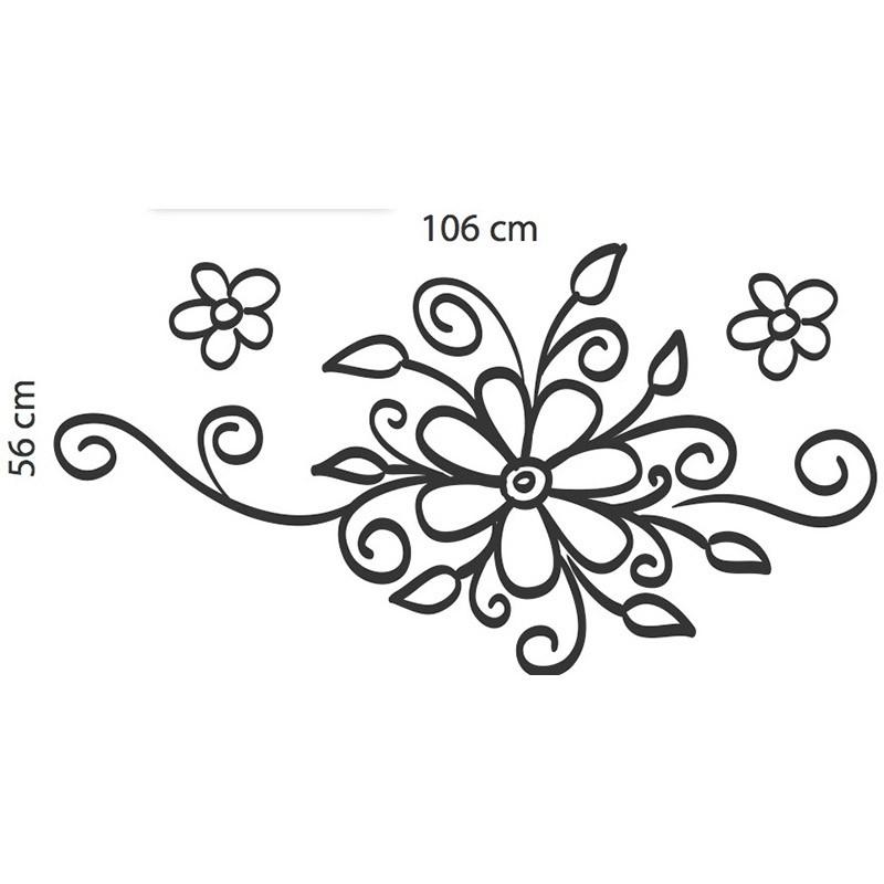 Adesivo Floral Arranjo de Flores