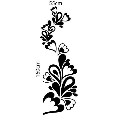 Adesivo Floral Flores Gotas