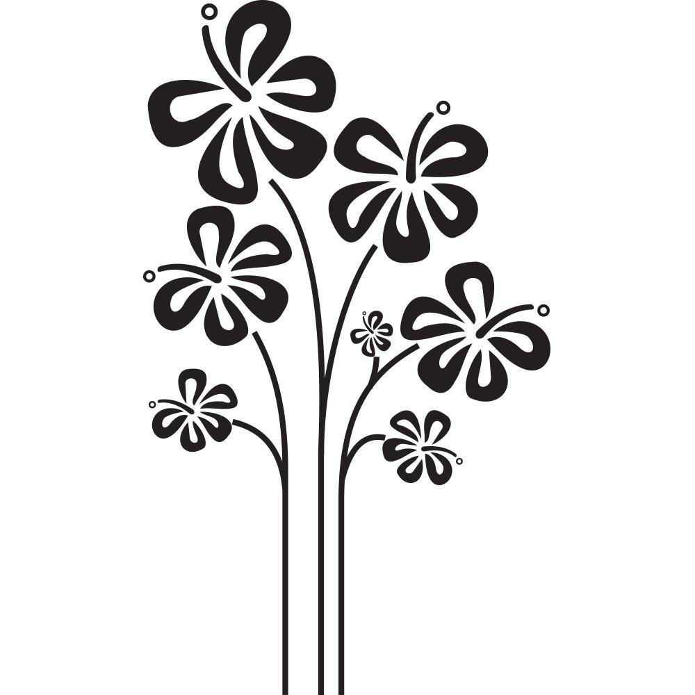 Adesivo Floral Lindas Borboletas