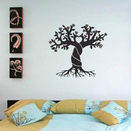 Adesivo Floral Love Tree