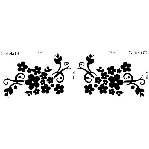 Adesivo Floral Sala