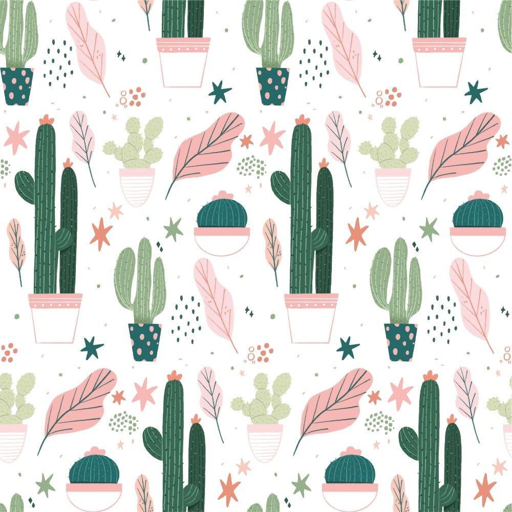 Adesivo Papel de Parede Cactus