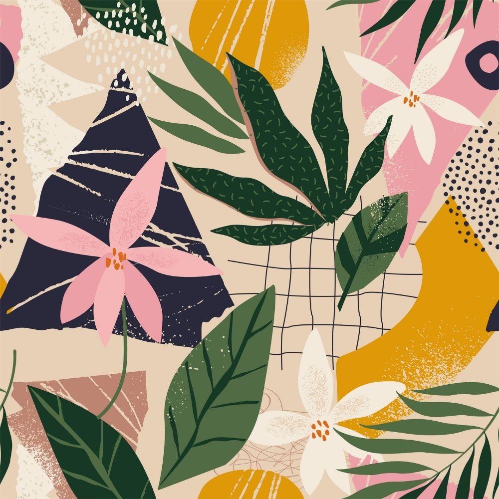 Adesivo Papel de Parede Floral Colorido