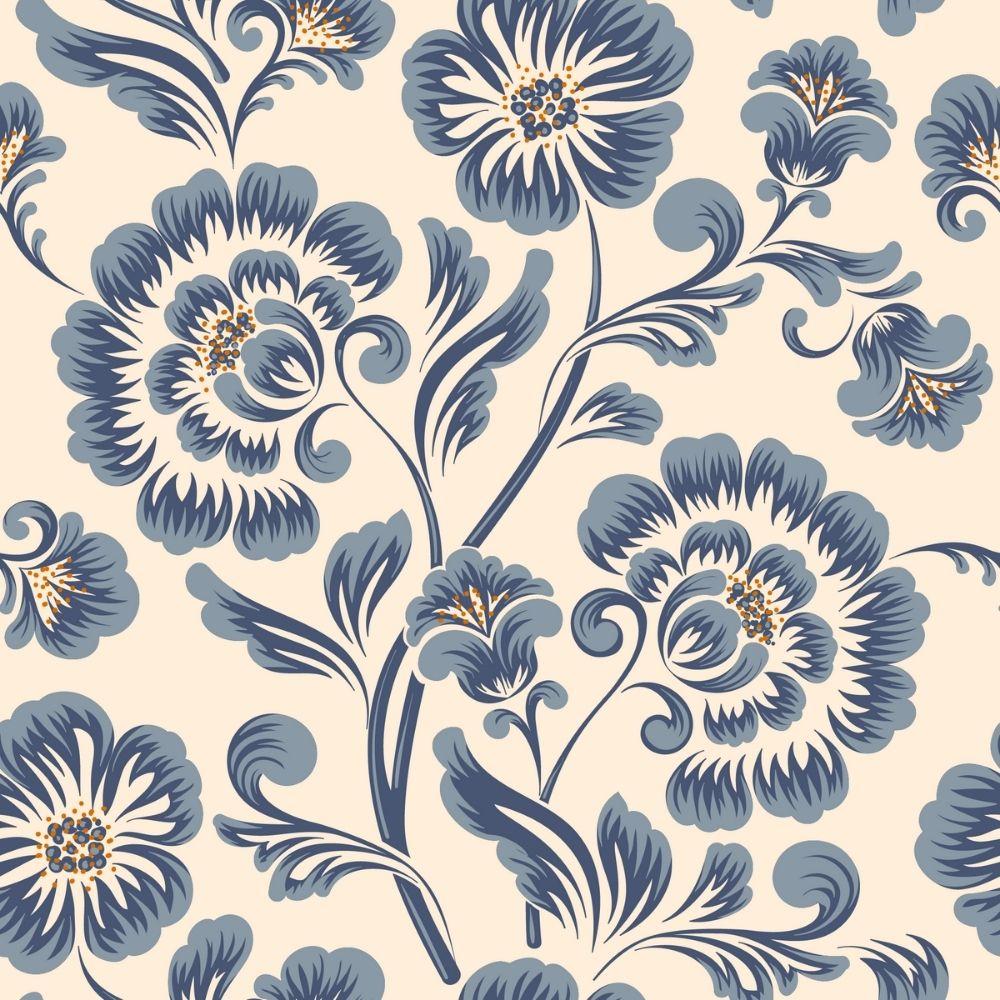 Adesivo Papel de Parede Flores Clássicas