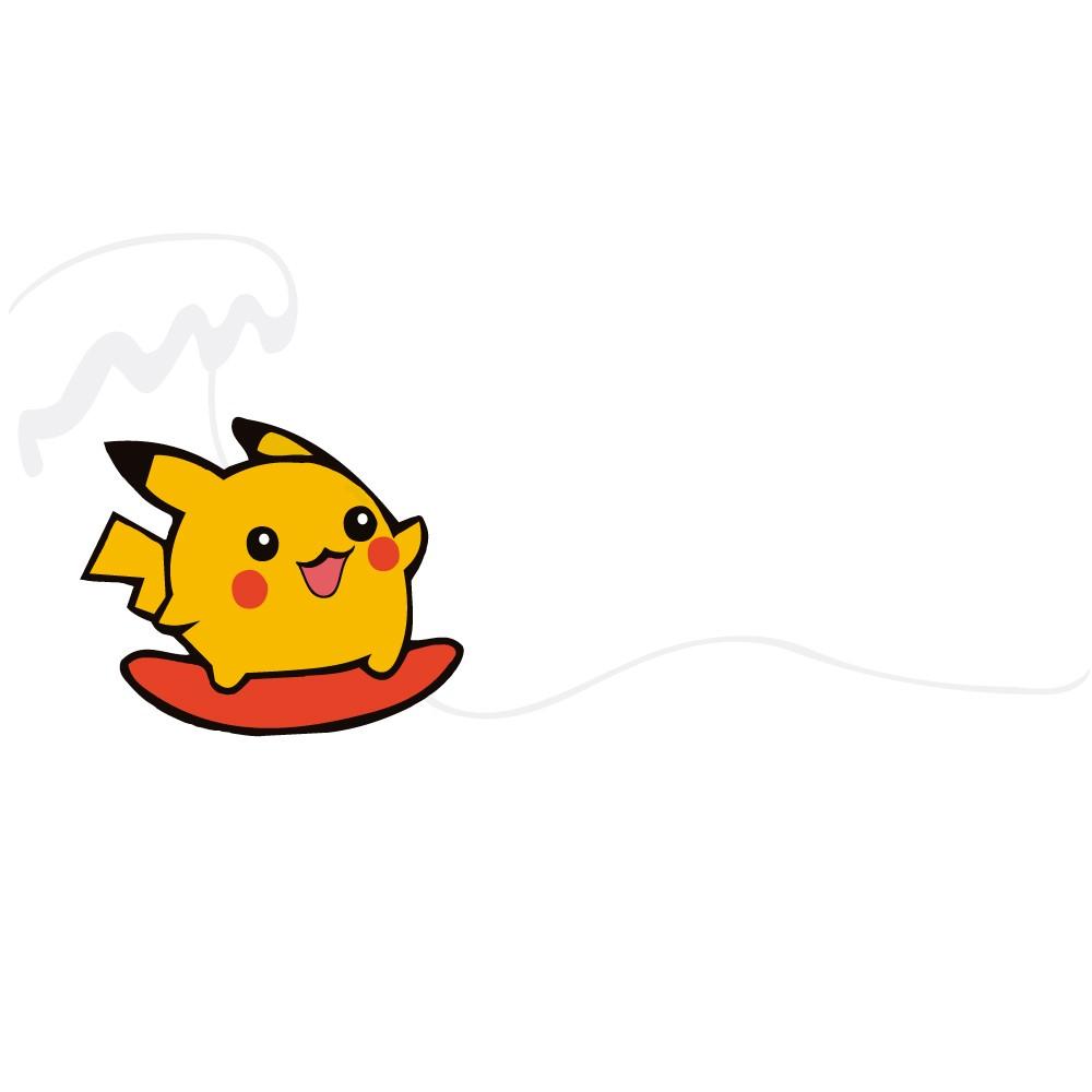 Adesivo para Banheiro Pikachu Surfista