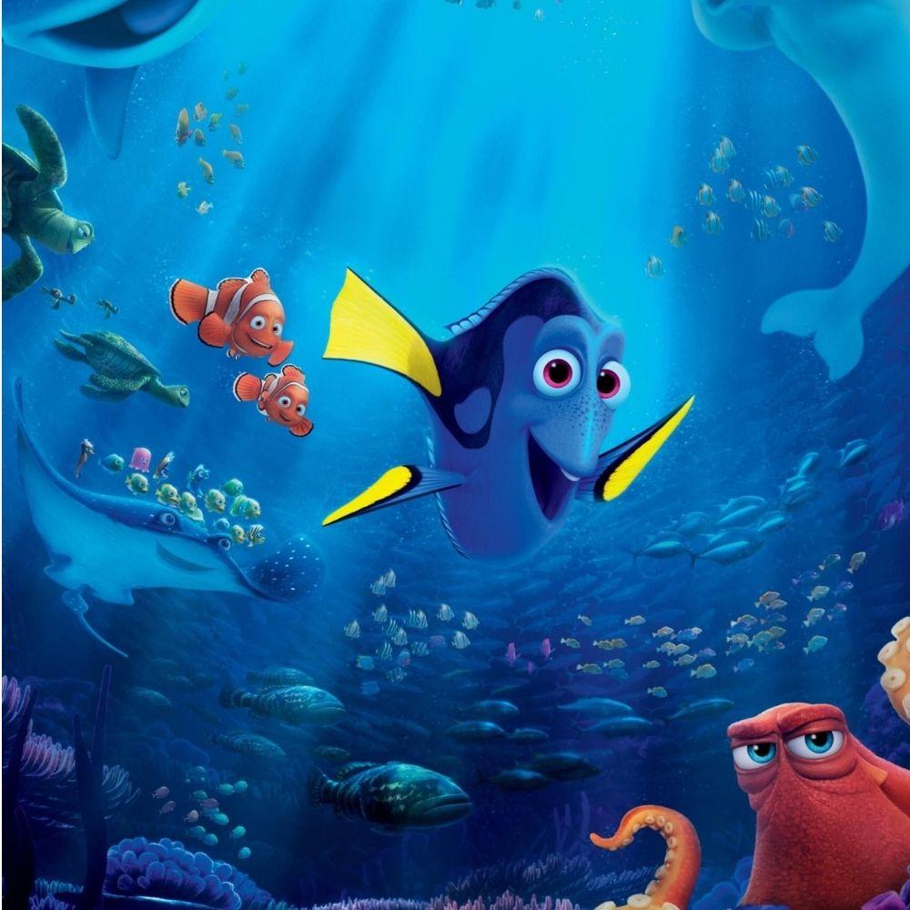 Adesivo Para Box De Banheiro 3d Procurando Nemo II Largura Total Até 120cm