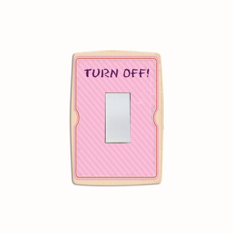 Adesivo para Interruptor Turn Off Rosa