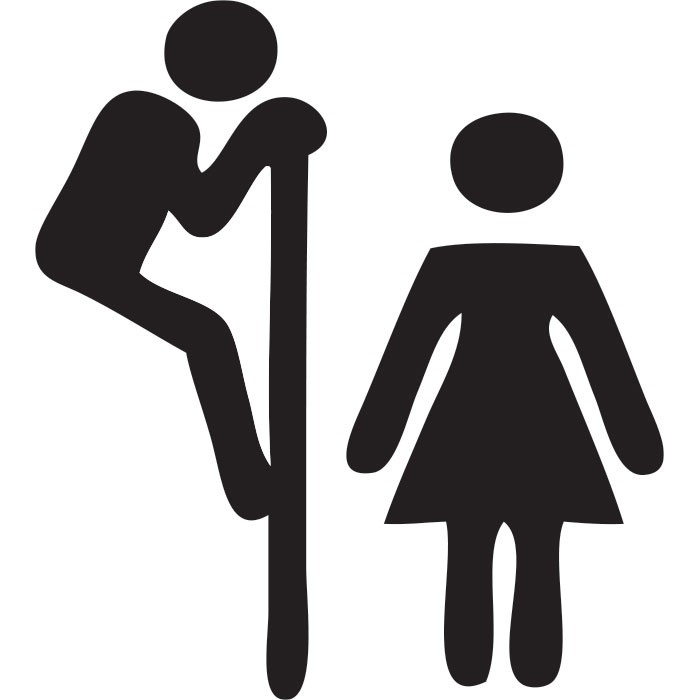 Adesivo para Porta Banheiro Compartilhado