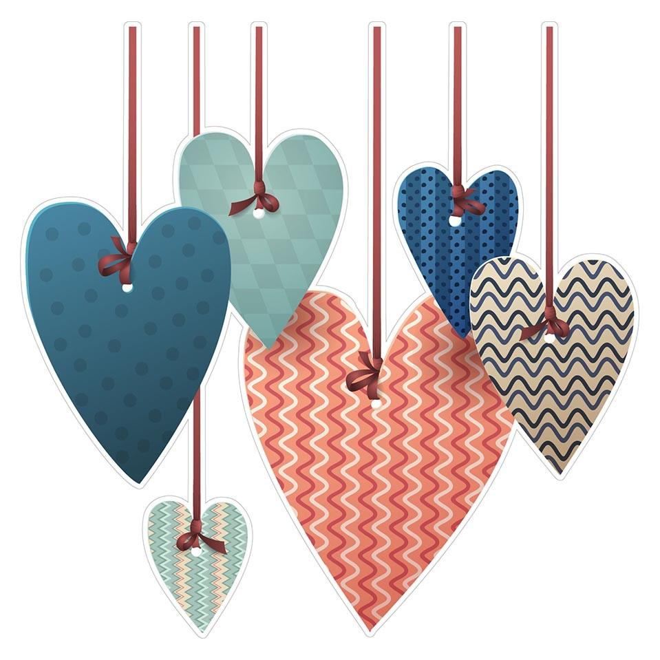 Adesivo para Porta Corações Pendurados