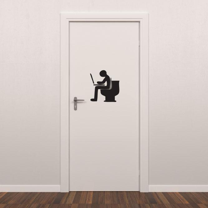 Adesivo para Porta de Banheiro Nerd