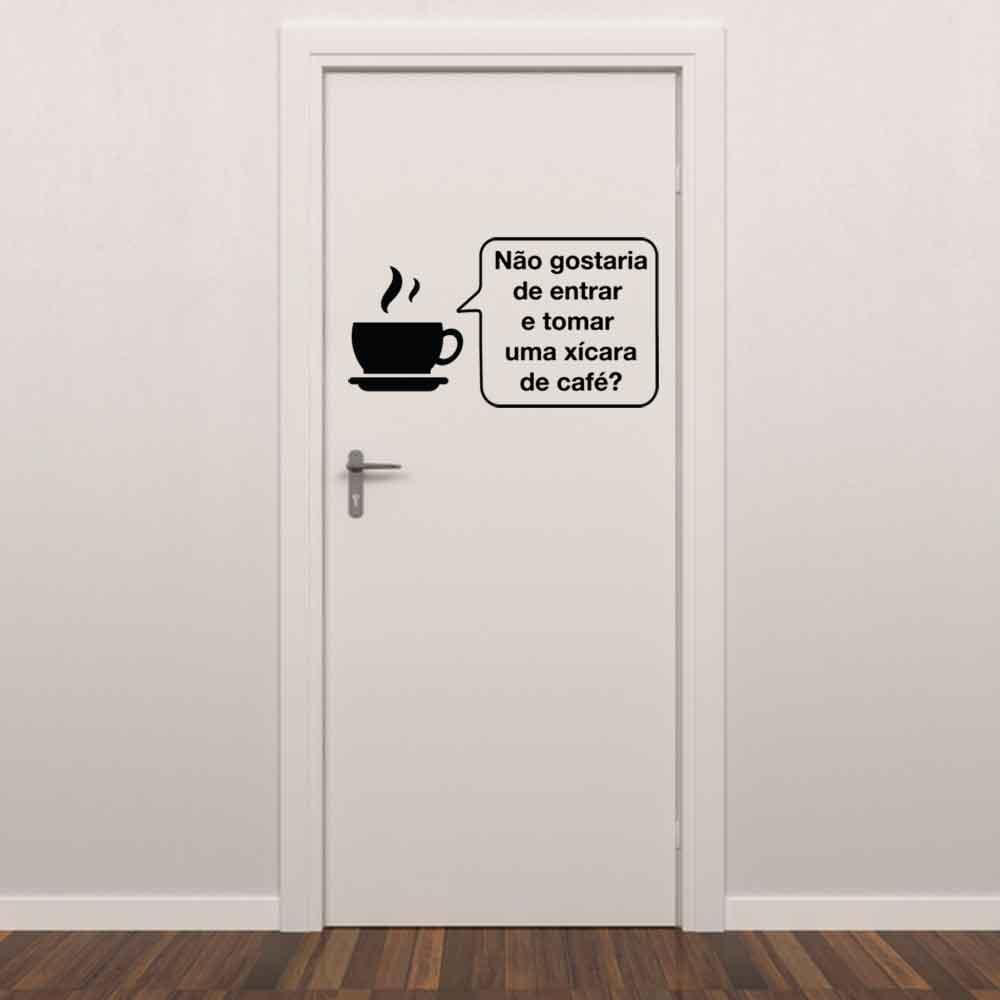 Adesivo para Porta Não Gostaria de Entrar...