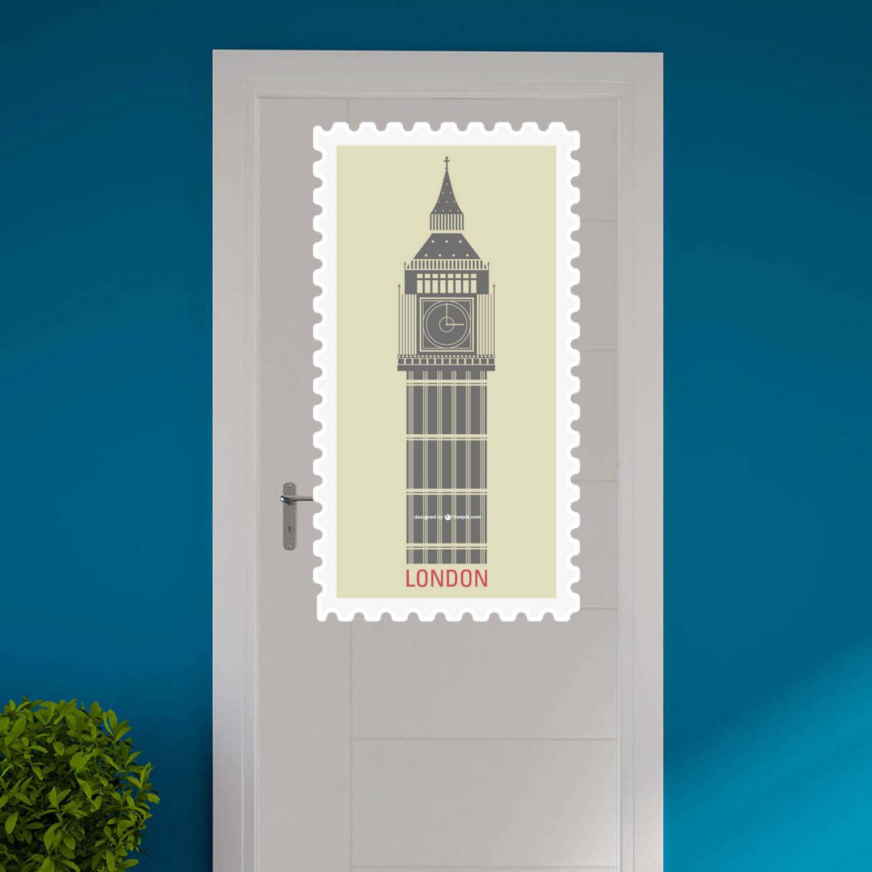 Adesivo para Porta Selo Torre Londres