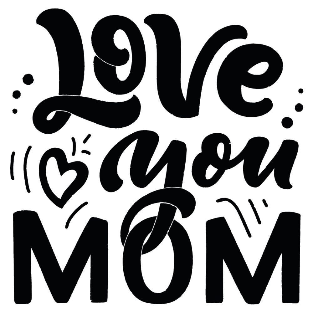 Adesivo Parede Love You Mom