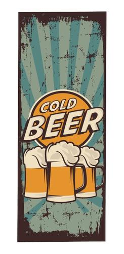 Adesivo Plotagem Geladeira Beer Retrô 160cm