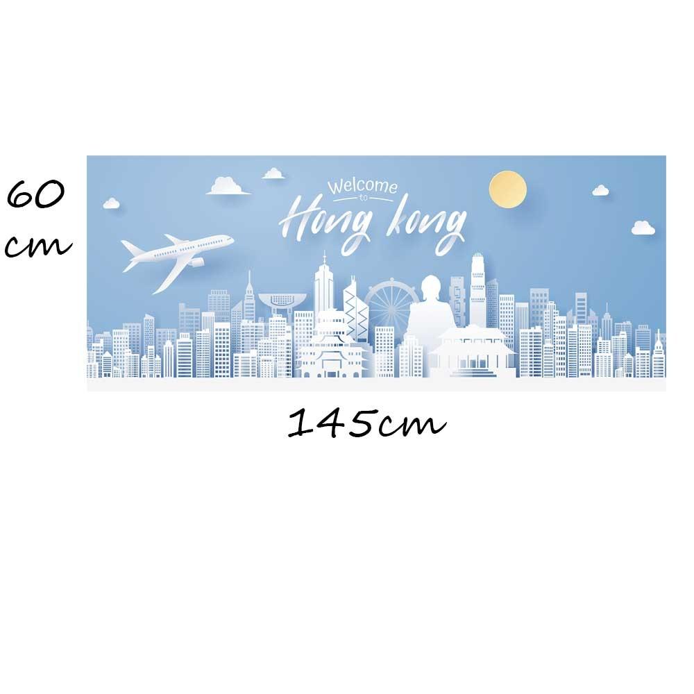 Adesivo Quadro Skyline Hong Kong