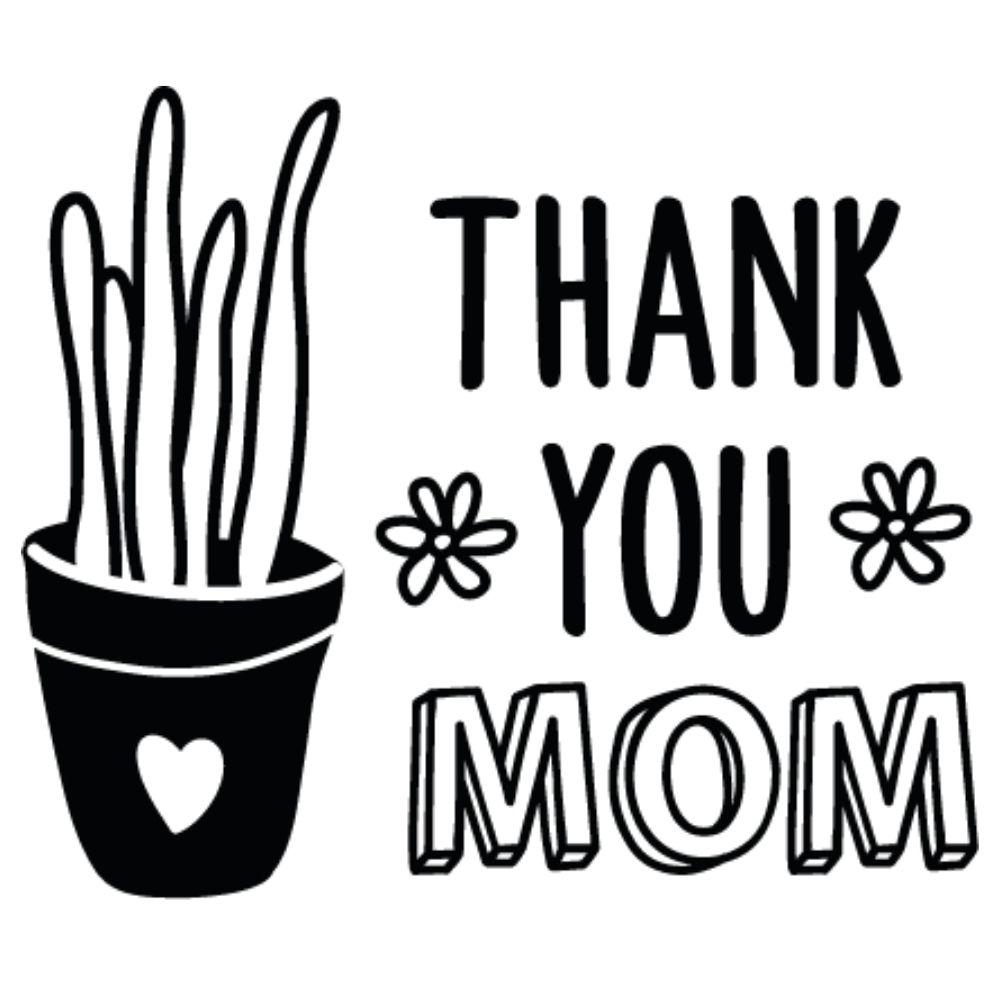 Adesivo Thank You Mom Cactus
