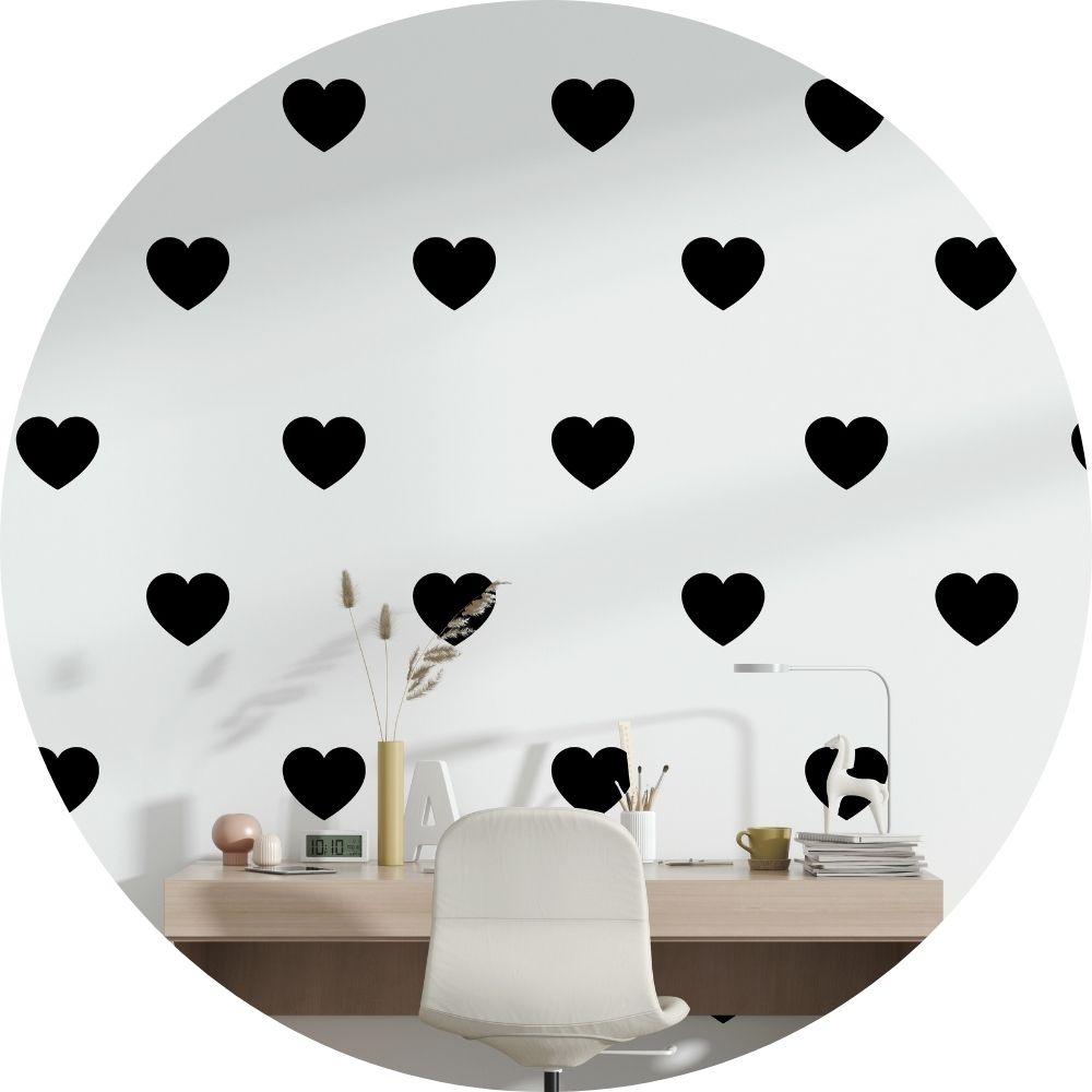 Adesivos Decorativos Cartela corações Kit 30un 10x10cm
