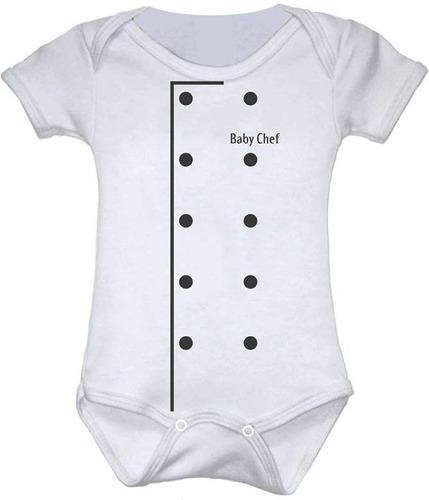 Body Bebê Divertido Baby Chef Somente Para Bebês Com Estilo