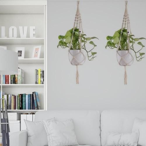 Floreira De Macramê Plant Hanger - Rústica