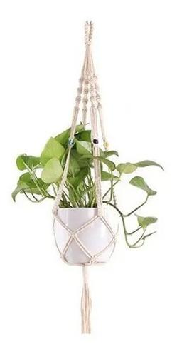 Floreira De Macramê Plant Hanger Suporte Suspenso Kit 5 Un