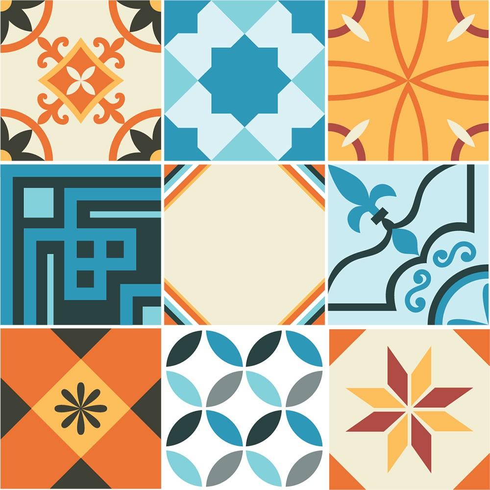 KIT Adesivos de Azulejos Alegria