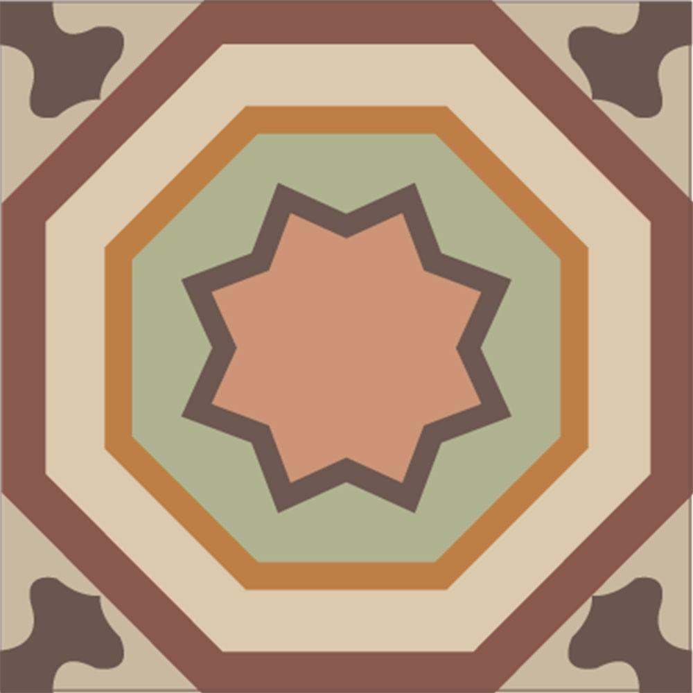 KIT Adesivos de Azulejos Antigo Marrom