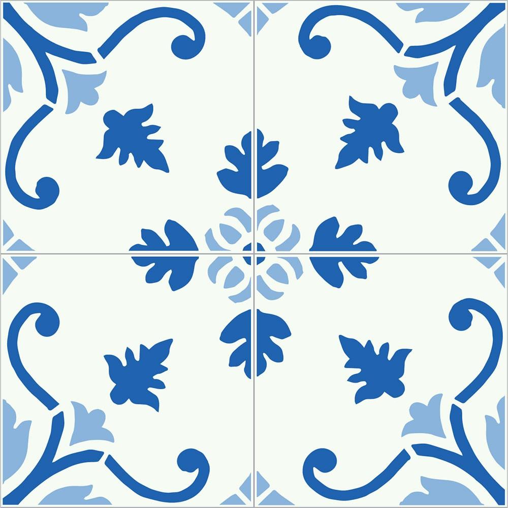 KIT Adesivos de Azulejos Azul Classic