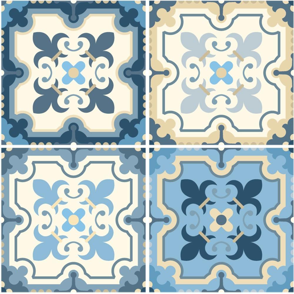 KIT Adesivos de Azulejos Blue Harmony