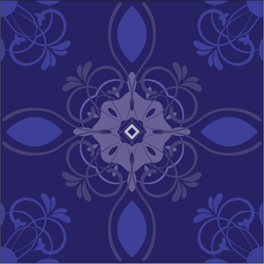 KIT Adesivos de Azulejos Blue Imperial