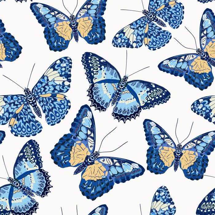 KIT Adesivos de Azulejos Borboletas Azuis