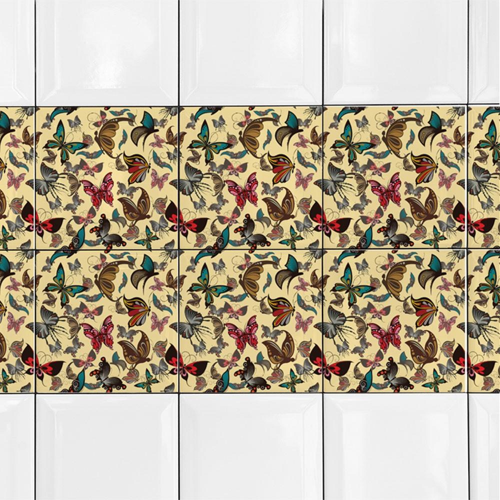KIT Adesivos de Azulejos Borboletas Variedades