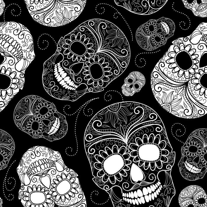 KIT Adesivos de Azulejos Caveiras Mexicanas