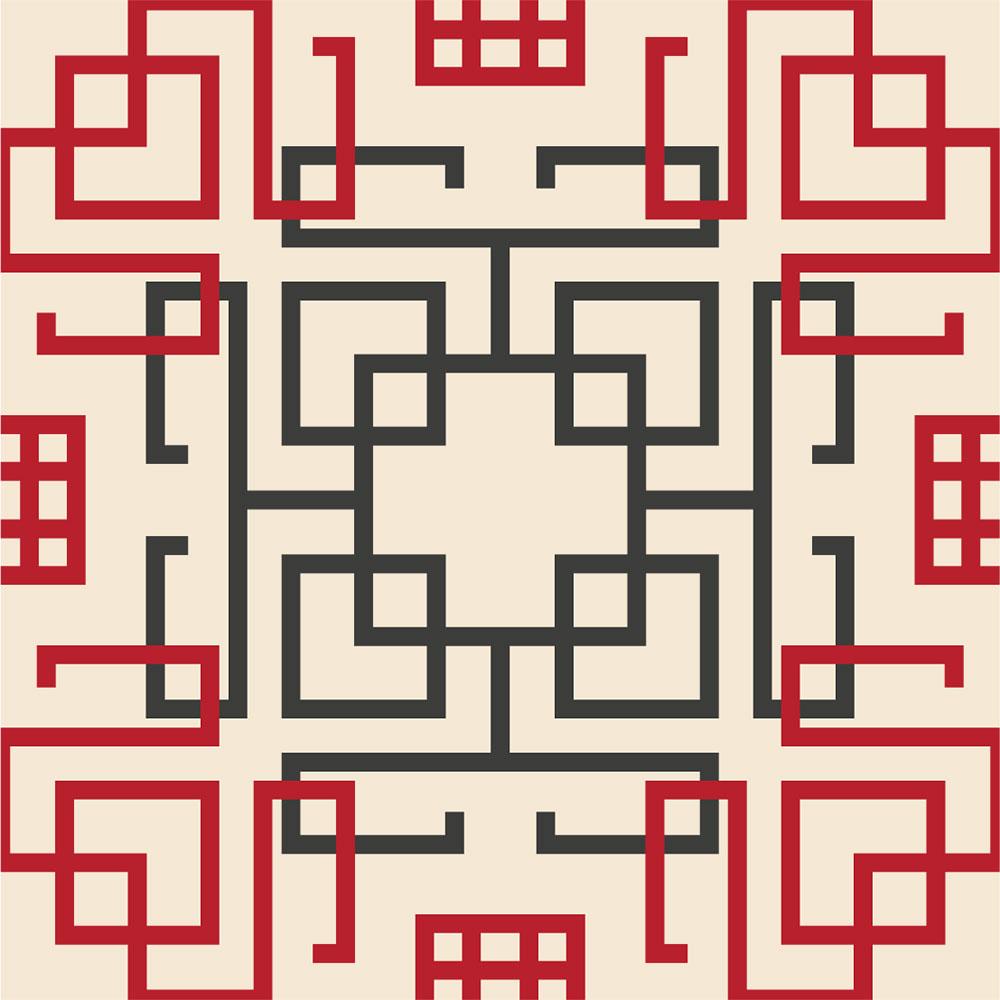 KIT Adesivos De Azulejos China Square