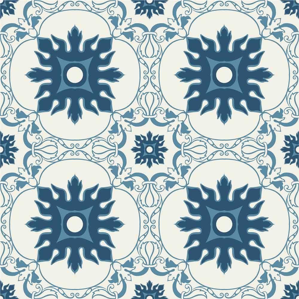 KIT Adesivos de Azulejos Clássico Azul