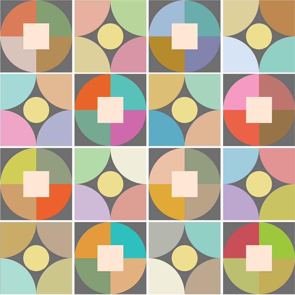 KIT Adesivos de Azulejos Coloridos Círculos