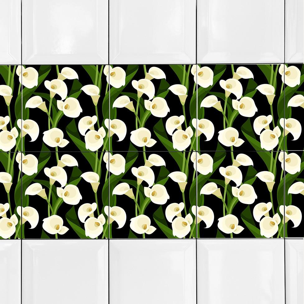 KIT Adesivos de Azulejos Copo de Leite
