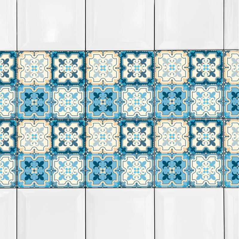 KIT Adesivos de Azulejos Cyan Blue