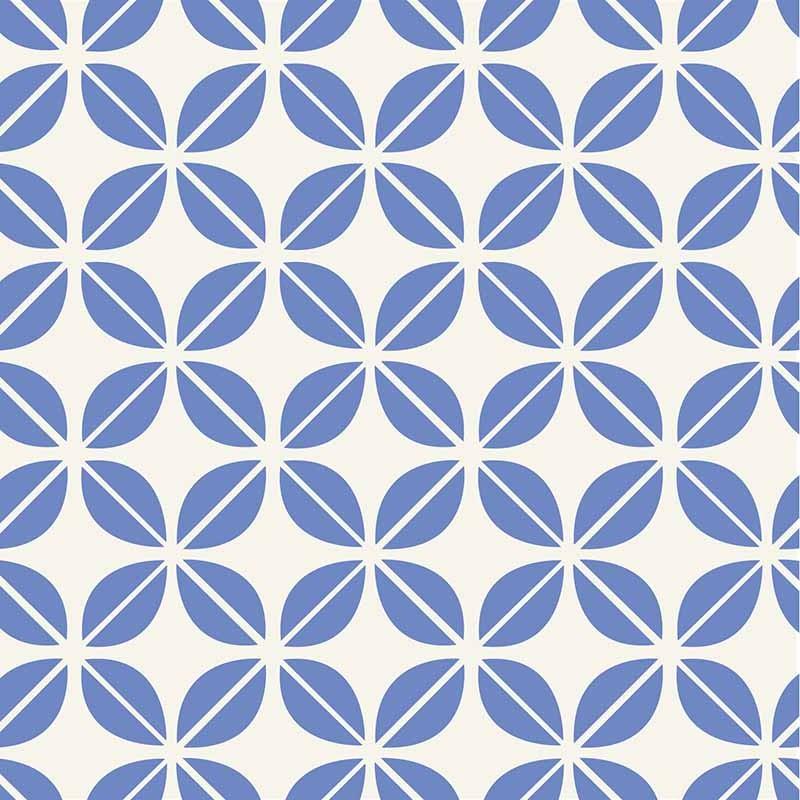 KIT Adesivos de Azulejos Flores Geométricas Blue