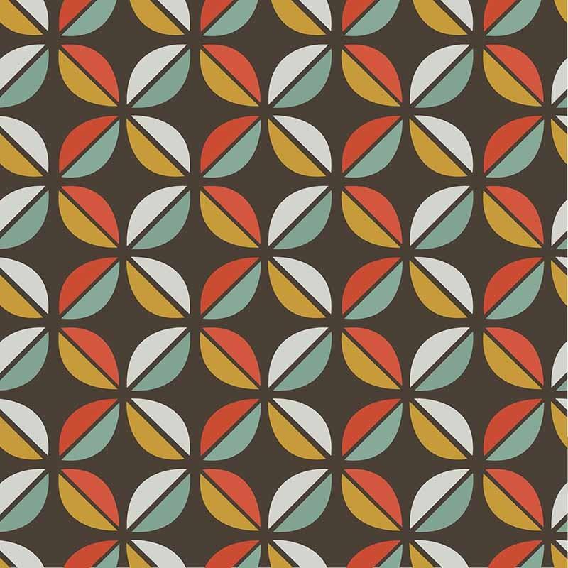 KIT Adesivos de Azulejos Flores Geométricas Coloridas