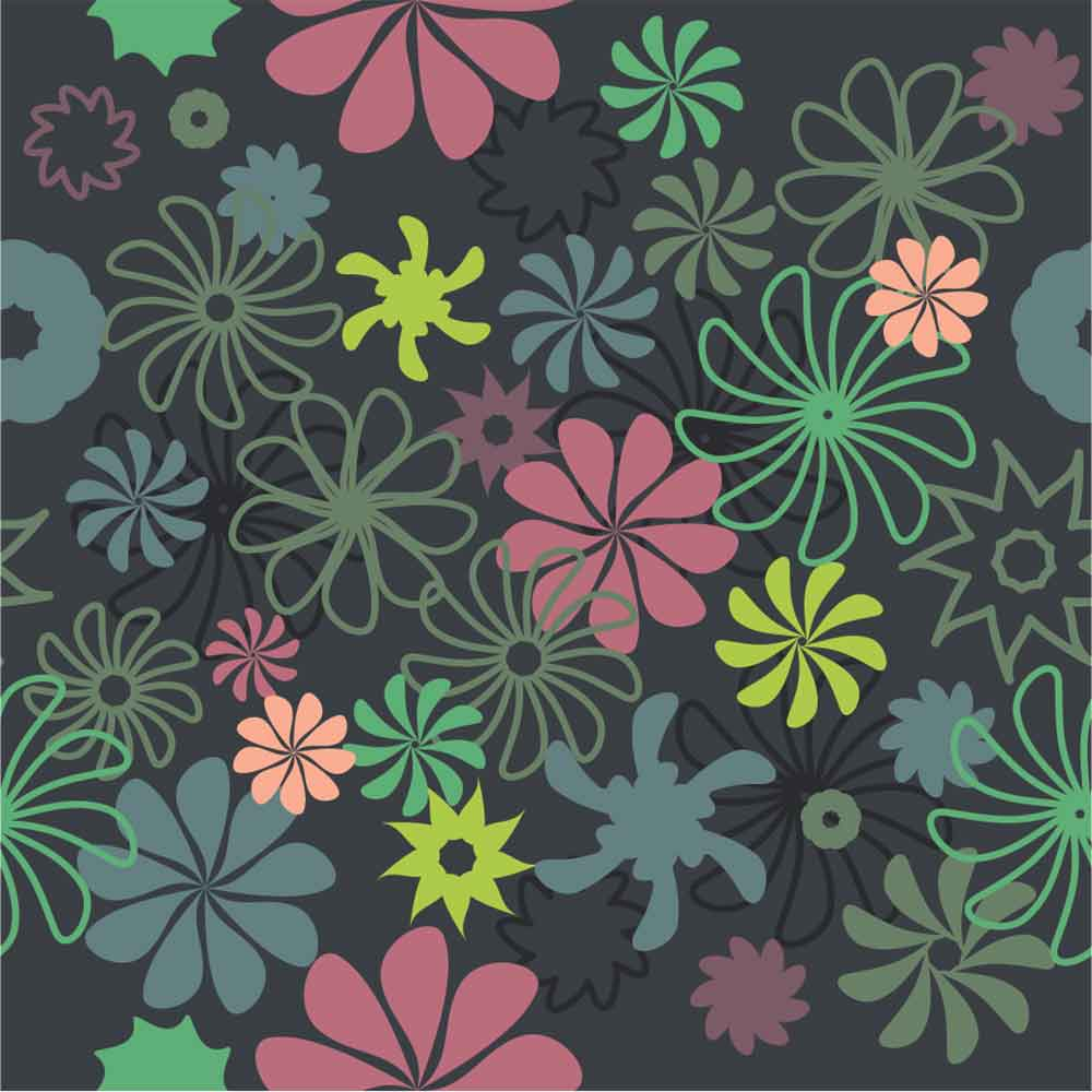 KIT Adesivos de Azulejos Flores Trance