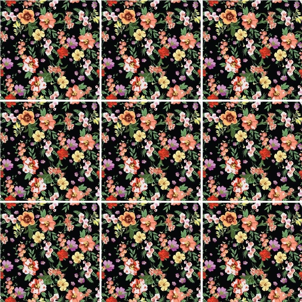 KIT Adesivos de Azulejos Floridos