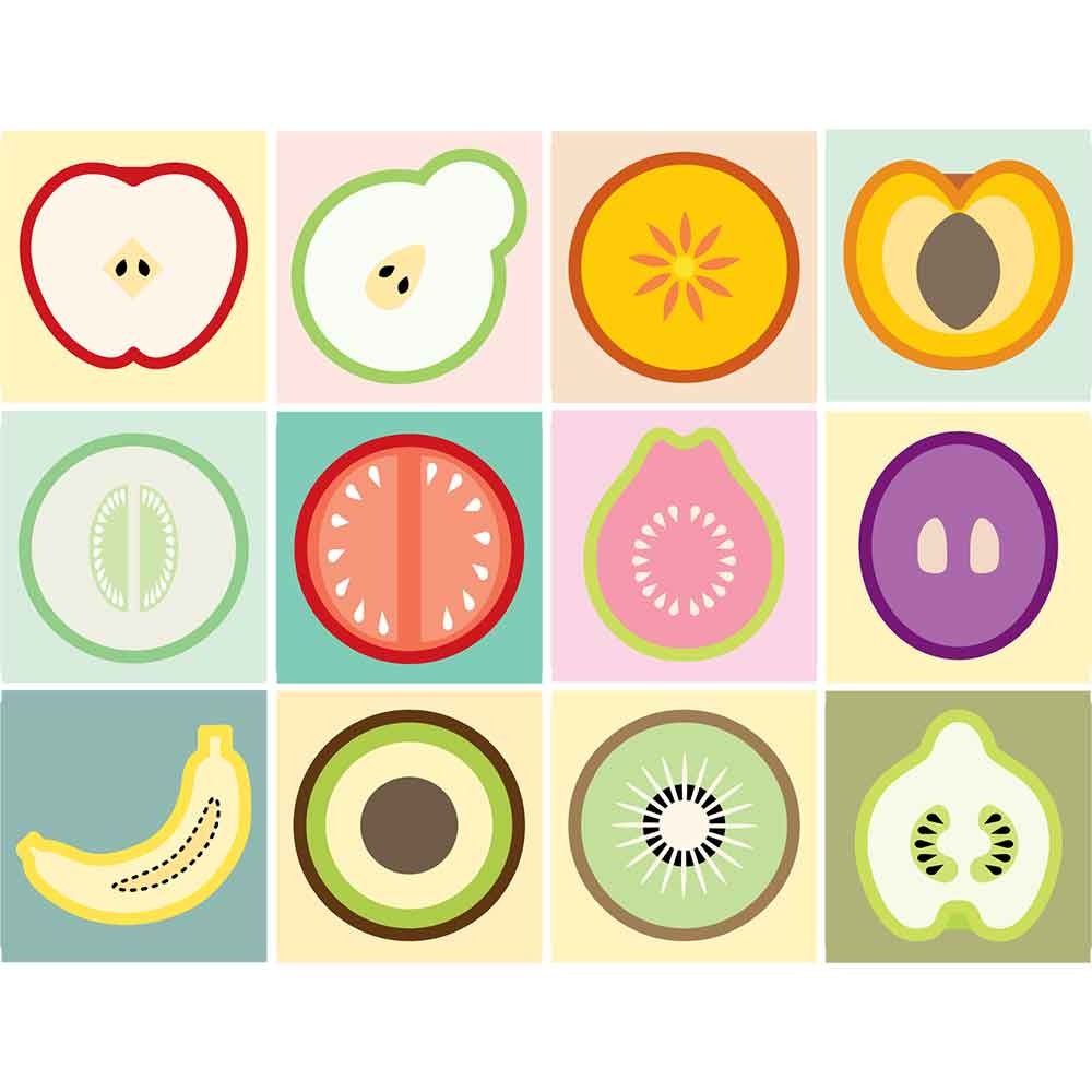 KIT Adesivos de Azulejos Fruit