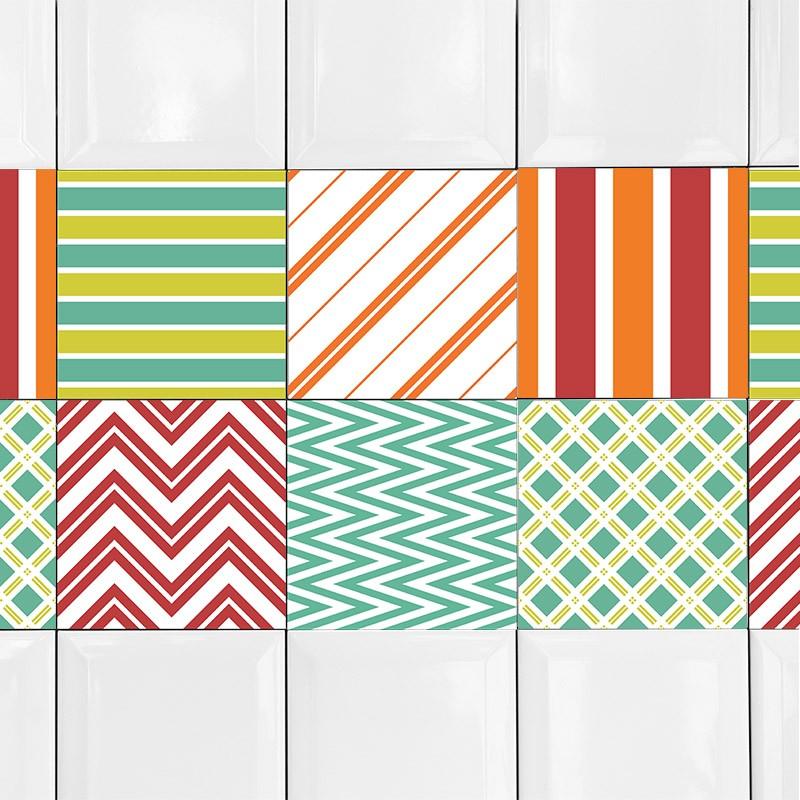 KIT Adesivos de Azulejos Geometric Colors
