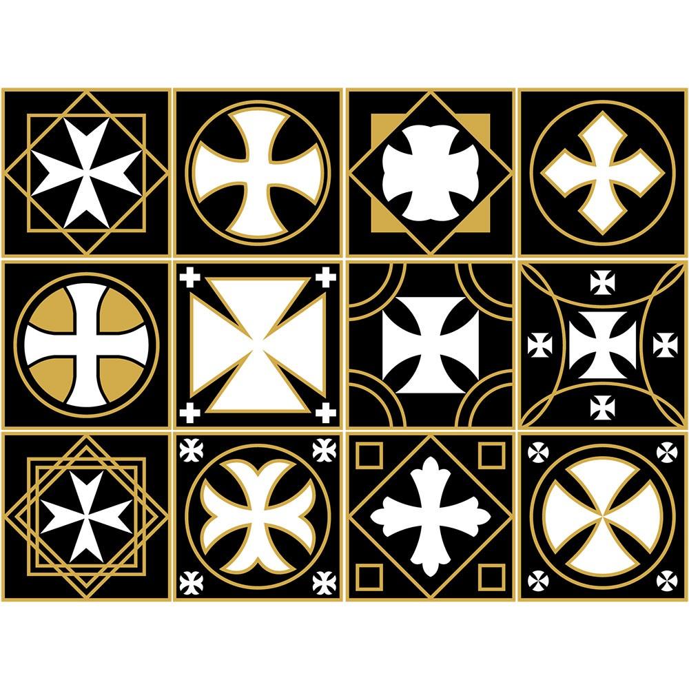 KIT Adesivos de Azulejos Gold Vasco