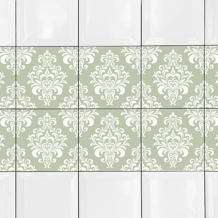 KIT Adesivos de Azulejos Green Vintage